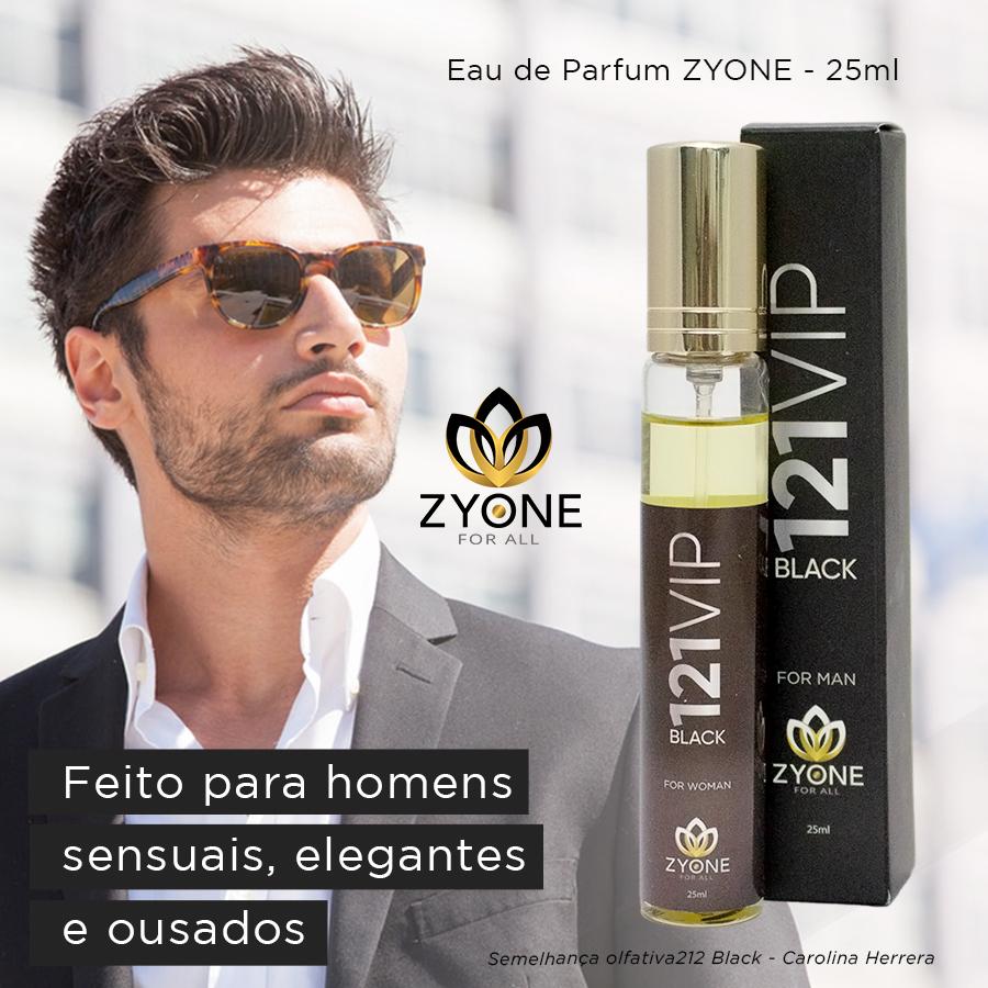 Perfume 121 Vip Black 25ml – For Man